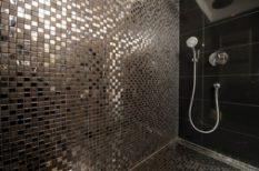 elegancia, fekete, fürdőszoba, otthon