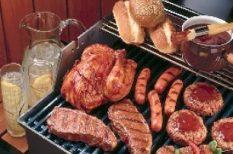 grill, hús, recept, saláta