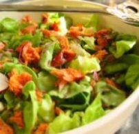 recept, saláta, sonka