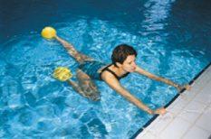 egészség, medence, mozgás