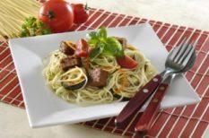 étel, főzés, menü, otthon, spagetti, sütés, tészta