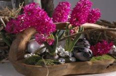 karácsony, lakás, otthon, szépség, tél, virág