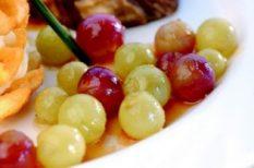 csirkemell, kékszőlő, párolt rizs, recept, szőlő