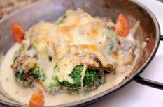 brokkoli, erdei gomba, hús nélküli recept
