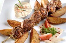 bélszín, grill, nyárson sült