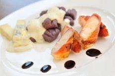 gnocchi, sajtmártás, vajhal