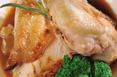 csirkemell, erdei gomba, rizottó
