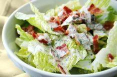 bacon, húsos saláta, saláta