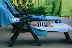 alvás, csecsemő, nyár