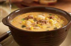 bzrgonyás recept, csirkés recept, egytálétel, krumplileves, krumplis recept, leves