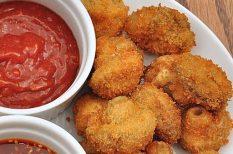 gomba, gombás recept, rántott gomba, sajt, sajtos rántott gomba, vacsora