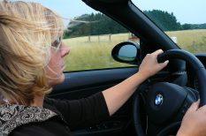 autó, biztonság, férfi, nő, vezetés