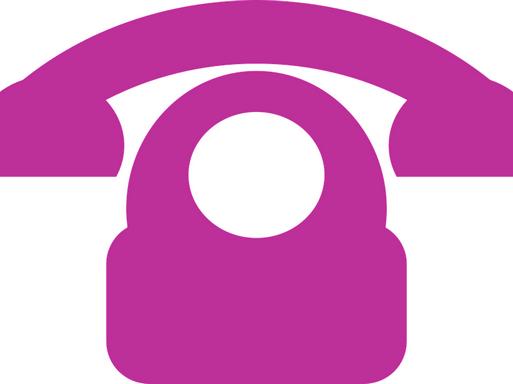 Grafikusan ábrázolt lila telefon, Kép: pixabay
