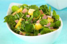ananász, saláta, sonka