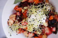 gyömbér, gyümölcsös recept, sült zöldség