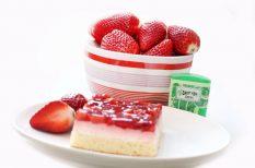 diabetikus, édesítőszer, eper, torta