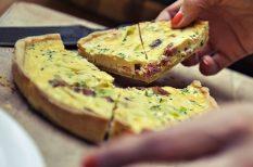 francia recept, quiche, sonka, torma