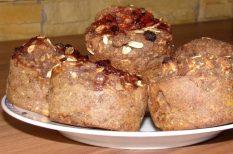 alma, diéta, muffin, müzli