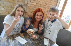 anyák napja, fagylalt, gyerekek, Keleti Andrea
