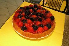 erdei gyümölcs, gasztronómia, recept, torta