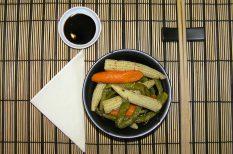 bébi kukorica, egészséges vacsora, esti vacsora, gasztronómia, gyömbér, recept