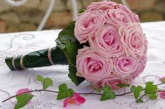 esküvő, jegygyűrű, menyasszony, ruha, vőlegény