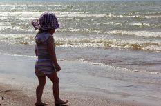 gyerek, kalap, nyaralás, öltöztetés, pelenka