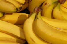 banán, gyümölcs, kevert tészta