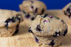 diabetikus, gasztronómia, idénygyümölcs, muffin, recept