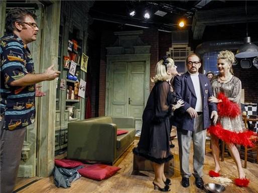 Neil Simon: Furcsa pár című darabjának próbája Szolnokon, Kép: Bugány János MTI