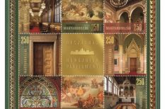 alkalmi kisív, bélyeg, Delegációs terem, Domé Eszter, Hajdú József, Országház, Vadászterem