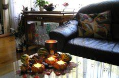 lakberendezés, levelek, ősz, otthon, színek, termések, trükkök