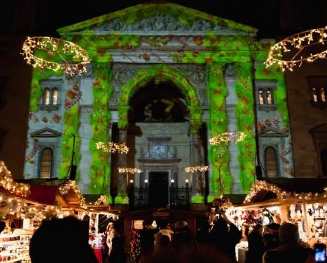 Adventi fényfestés a Bazilikán, Kép: sajtóanyag