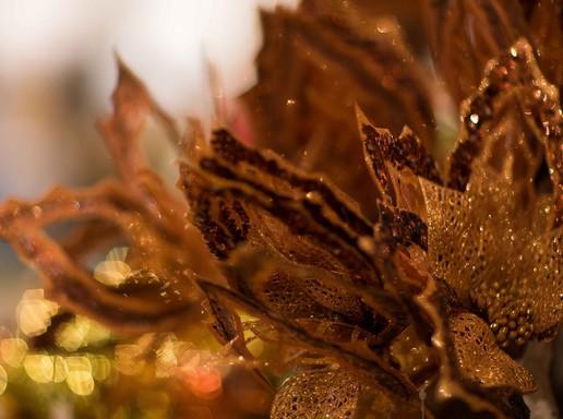 Arany-barna levelek, karácsonyi díszek, Kép: KIKA
