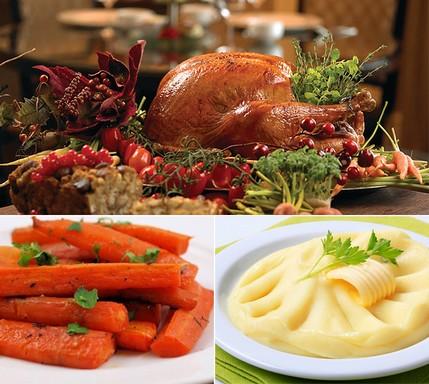 Hálaadasi sult pulyka, sült sárgarépa, krumplipüré, Kép: dietmaker