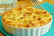 leveles tészta, sajt, szalonna