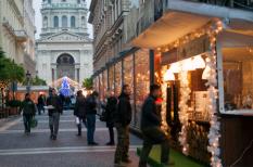 advent, bazilika, karácsony, koktél, street food, Zrínyi utca