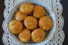 muffin, túró, zöldség