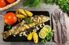 hal, karcsonyi menü, pisztráng