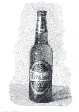 Dreher sörösüveg grafikai ábrázolása, Kép: wikimedia
