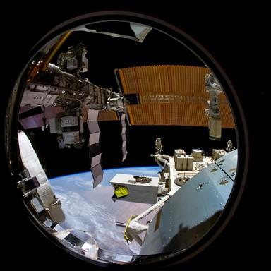 A Föld látképe az űrállomásról, Kép: NASA