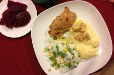 csirkecomb, csirkemell, fokhagyma, gyulai kolbász