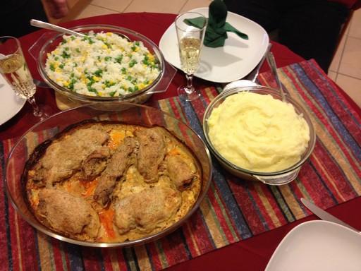 Gyulai csirke tálalva a vacsorához, Kép: László Márta