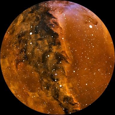 Egy vörös égitest távoli képe - közelről, Kép: T. Matsopoulos, NASA