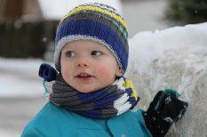 hideg, kesztyű, kisbaba, öltöztetés, tél