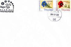 bélyeg, Európába, Európán kívülre, Magyar Posta, pipacs, száratlan tárnics, Üdvözlettel