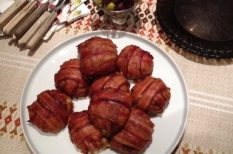 bacon, falatozás, fasírt, gasztronómia, vendégség