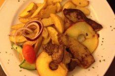 juharszirup, különlegesség, libamáj, Sült alma