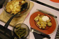 gasztronómia, kolbász, Közép-Európa, rakott krupli, tejfel, tojás