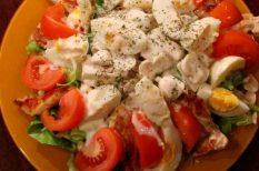 csirke, gomba, sajt, saláta, tavaszi saláták